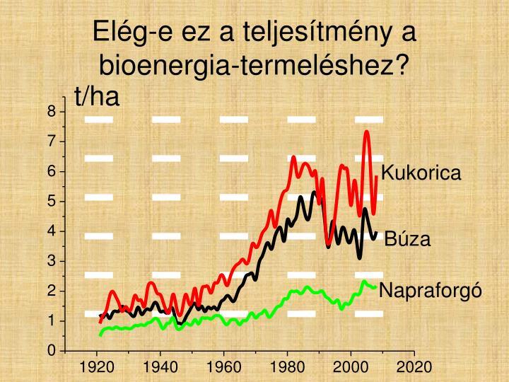 Elég-e ez a teljesítmény a bioenergia-termeléshez?