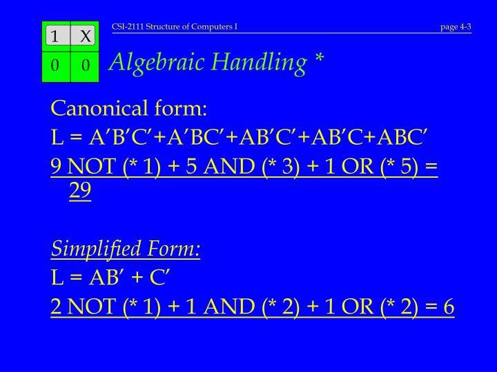 Algebraic Handling *