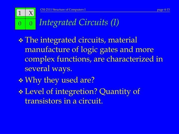 Integrated Circuits (I)