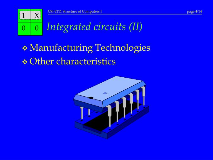 Integrated circuits (II)