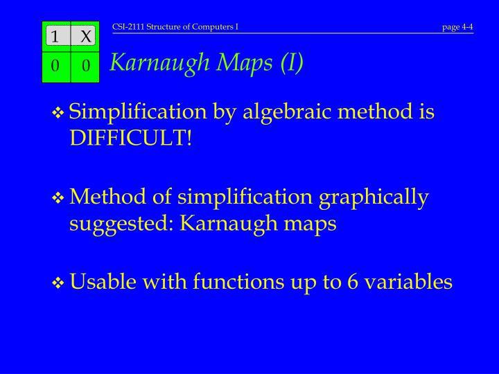 Karnaugh Maps (I)