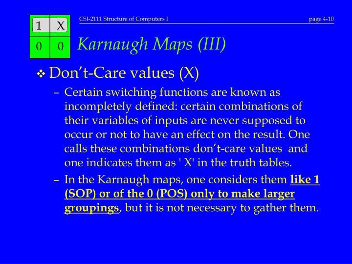 Karnaugh Maps (III)