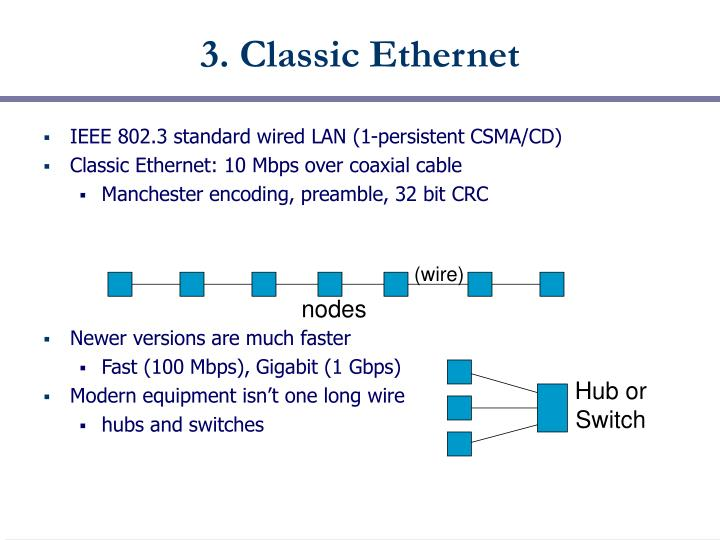 3. Classic Ethernet