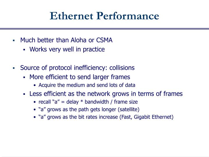 Ethernet Performance