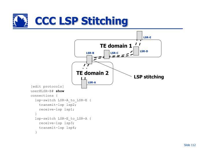 CCC LSP Stitching