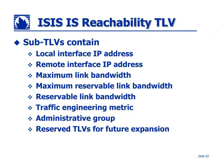 ISIS IS Reachability TLV