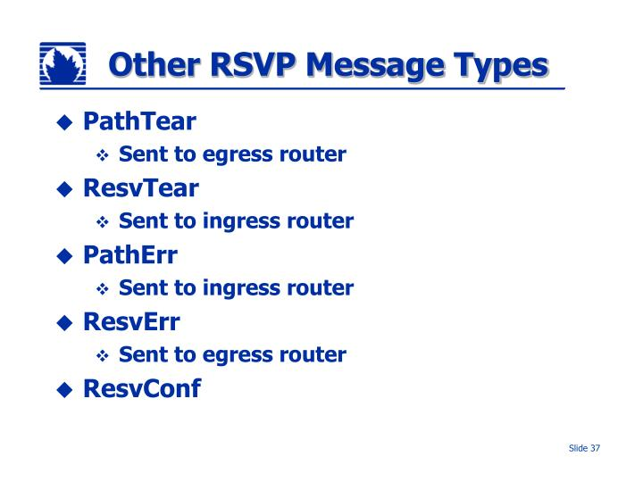 Other RSVP Message Types