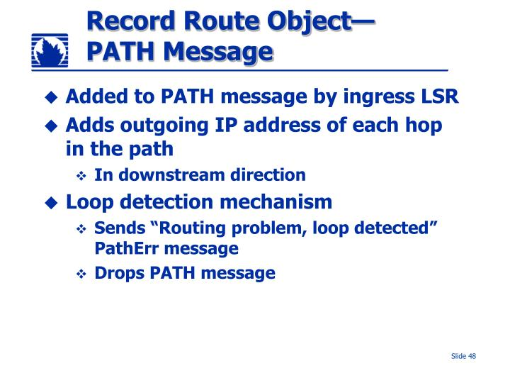 Record Route Object