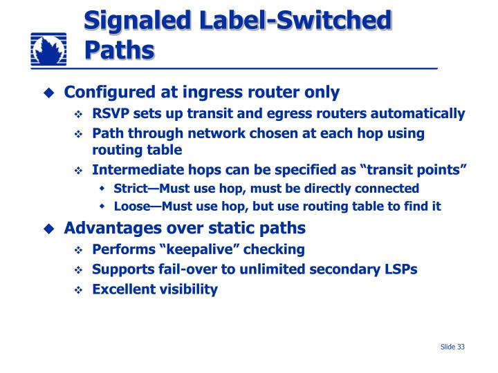 Signaled Label-Switched Paths