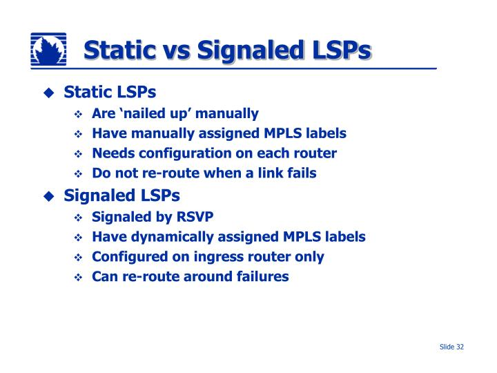 Static vs Signaled LSPs