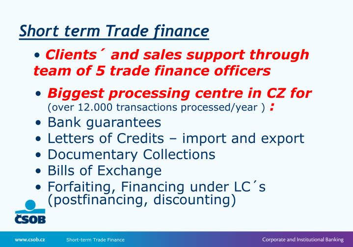 Short term Trade finance