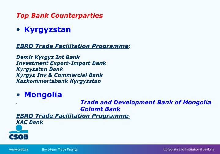 Top Bank Counterparties
