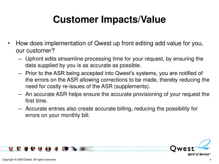 Customer Impacts/Value