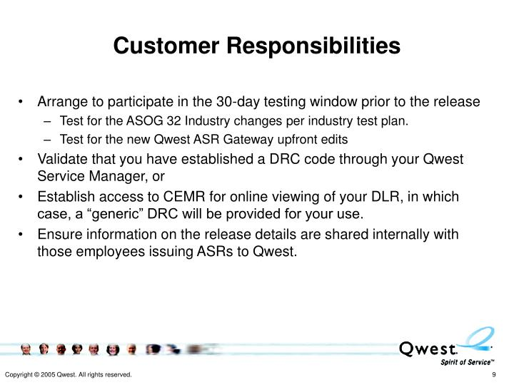 Customer Responsibilities