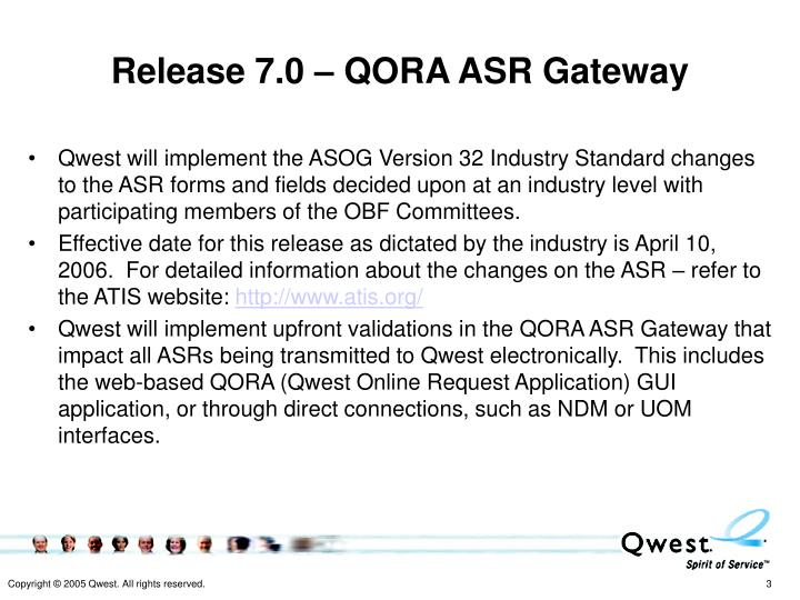 Release 7.0 – QORA ASR Gateway