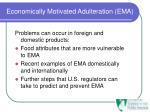 economically motivated adulteration ema