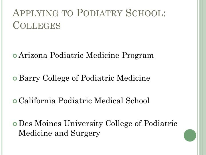Applying to Podiatry School: Colleges