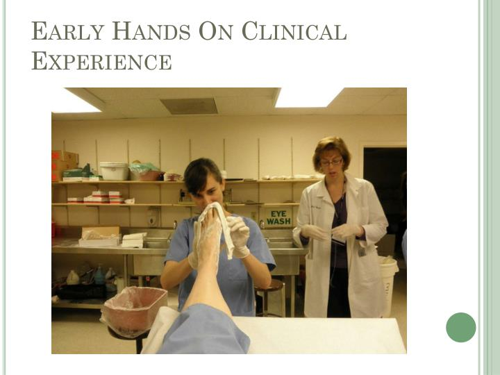 Early Hands On Clinical Experience