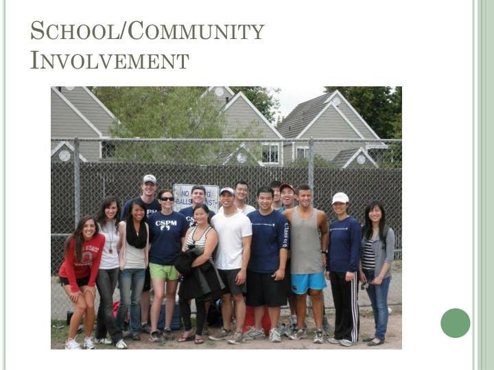 School/Community Involvement