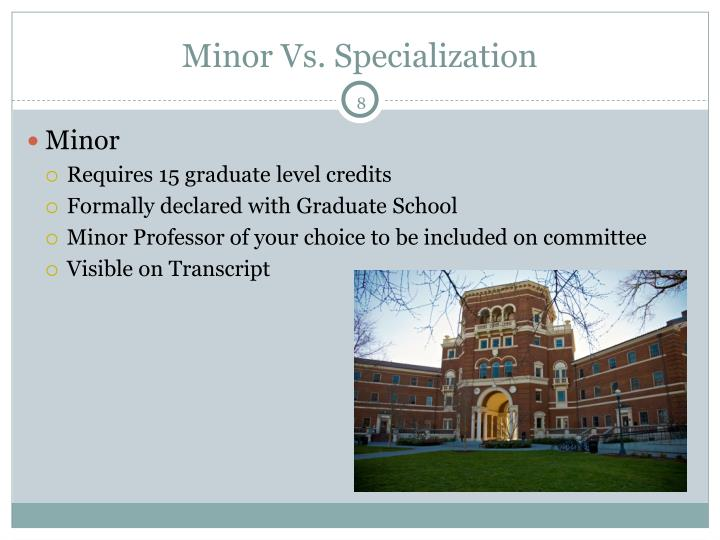 Minor Vs. Specialization