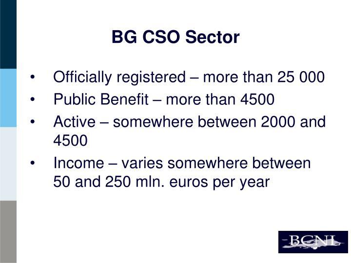 BG CSO Sector