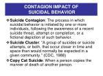 contagion impact of suicidal behavior