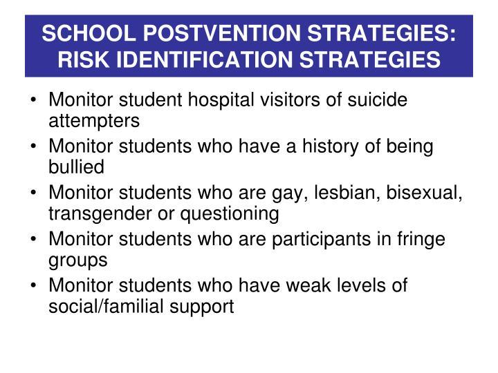 SCHOOL POSTVENTION STRATEGIES: