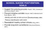 school suicide postvention goals