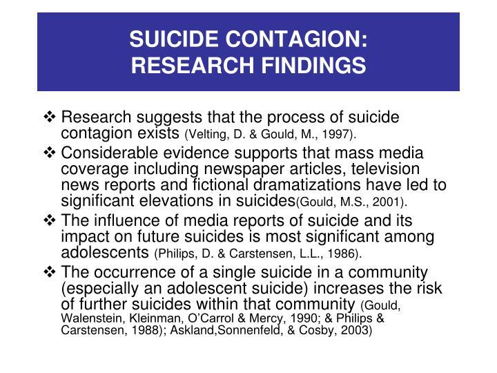 SUICIDE CONTAGION: