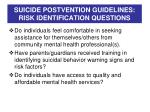 suicide postvention guidelines risk identification questions1
