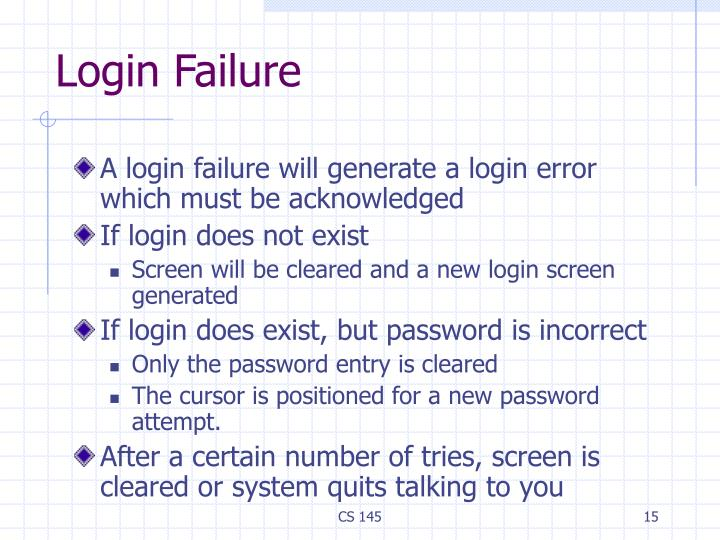 Login Failure