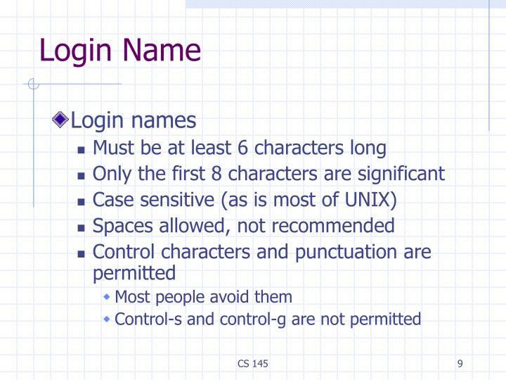 Login Name