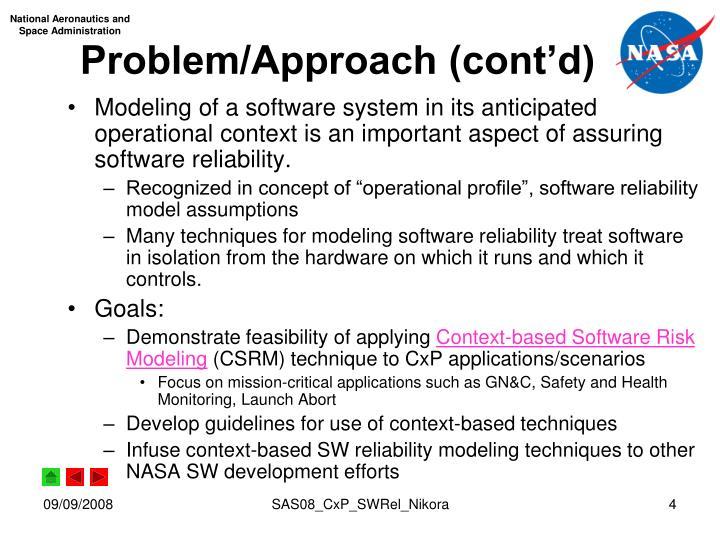 Problem/Approach (cont'd)