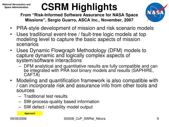 CSRM Highlights
