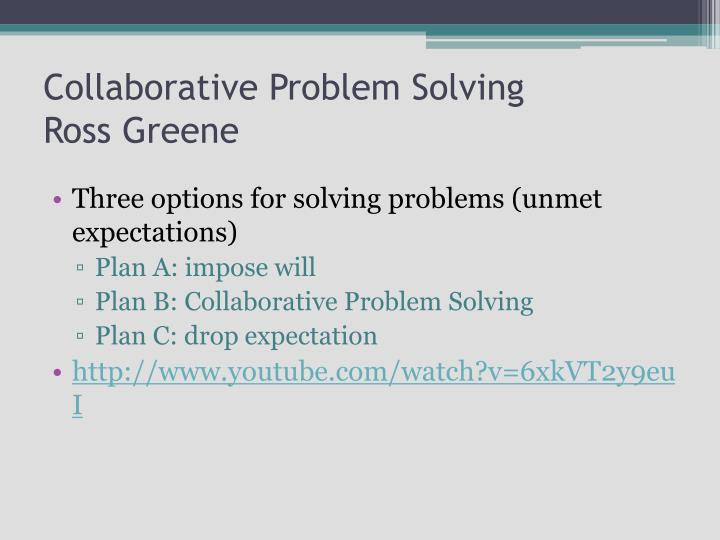 collaborative problem solving greene