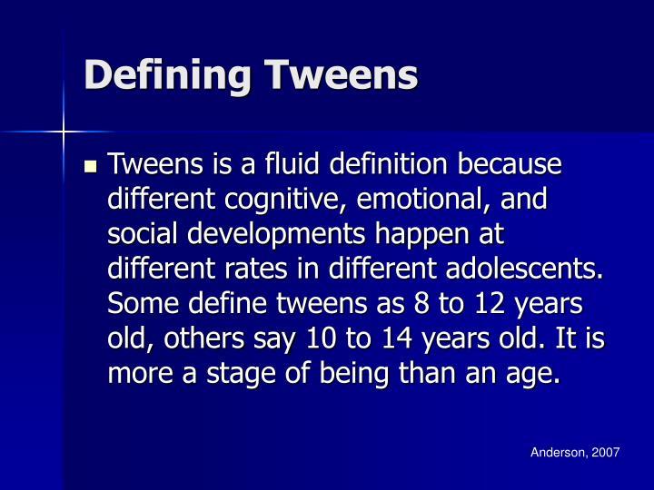 Defining Tweens