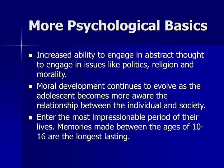 More Psychological Basics