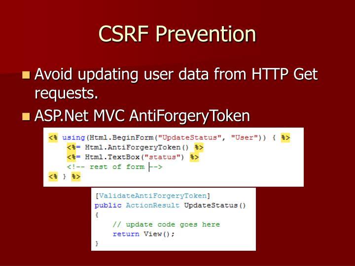 CSRF Prevention