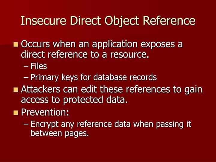 Insecure Direct Object Reference