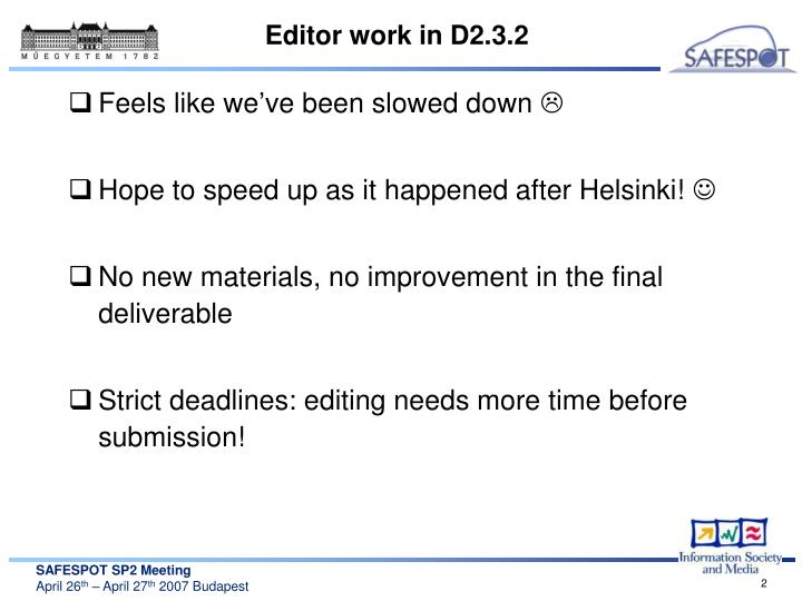 Editor work in d2 3 2