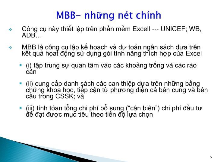 MBB- những nét chính