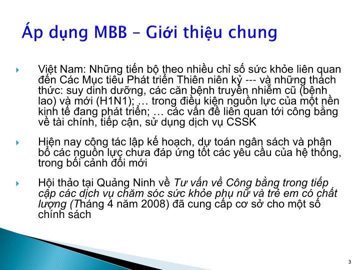 Áp dụng MBB – Giới thiệu chung