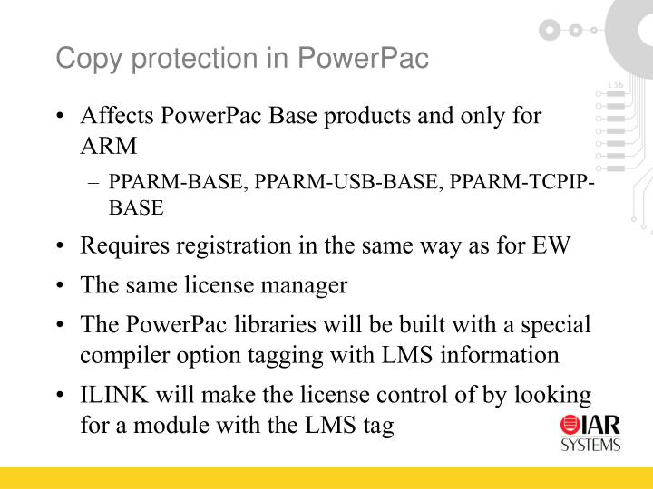 Copy protection in PowerPac