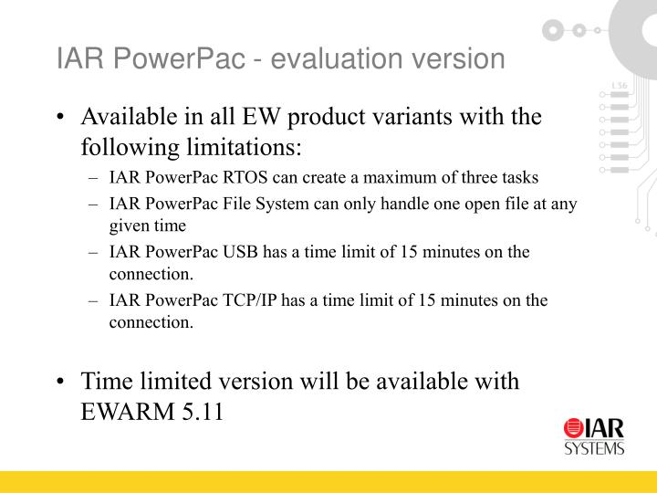IAR PowerPac- evaluation version