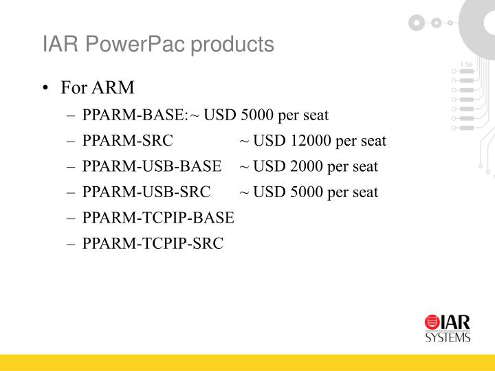 IAR PowerPacproducts