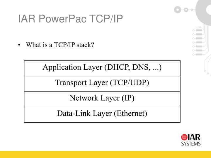 IAR PowerPac TCP/IP