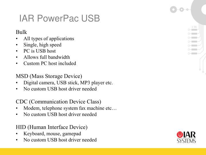 IAR PowerPac USB