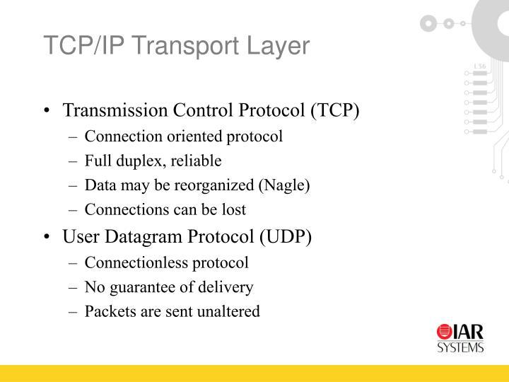 TCP/IP Transport Layer