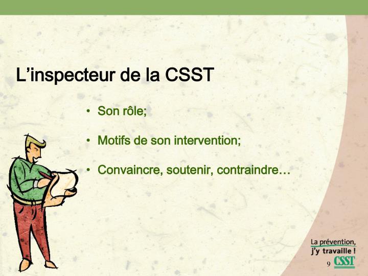 L'inspecteur de la CSST