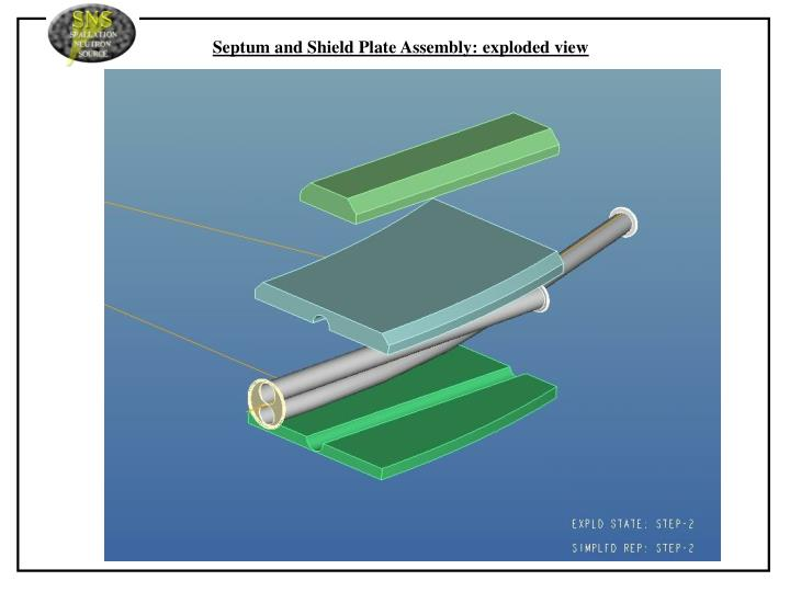 Septum and Shield Plate Assembly: exploded view